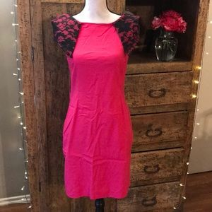 Dresses & Skirts - Plus Suze Pink and Black Lace Dress